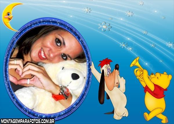 Moldura Cachorro e Urso Pooh