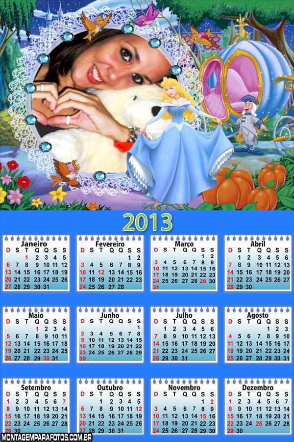 Calendário Cinderela 2013