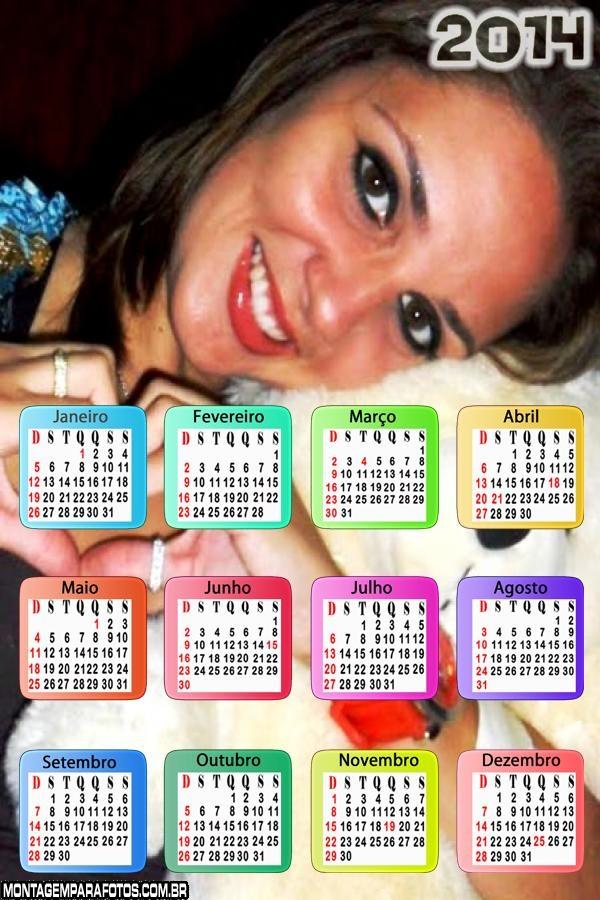 Calendário 2014 Transparente