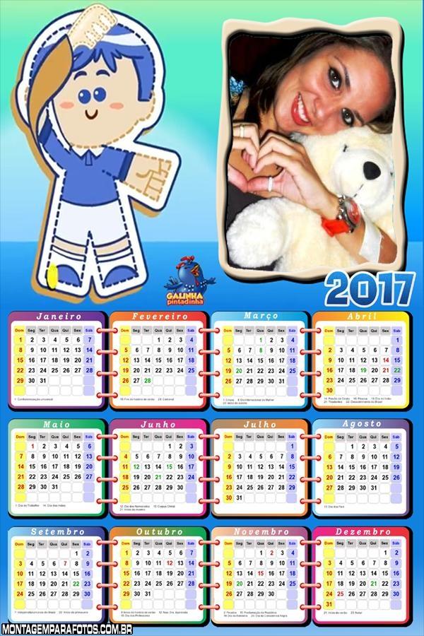 Calendário 2017  Pim Pom da Galinha Pintadinha