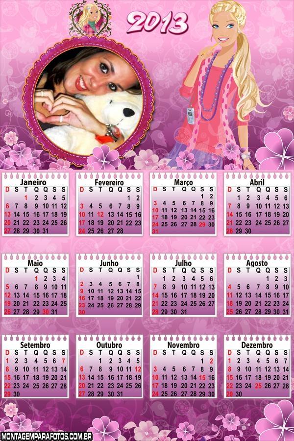 Calendário Patricinha 2013