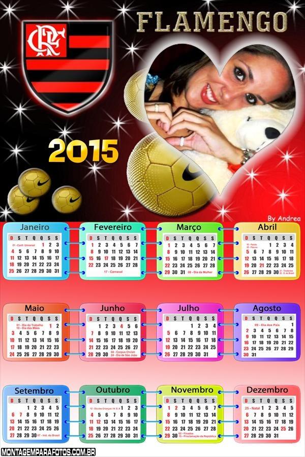 Calendário 2015 Flamengo Coração | Montagem para Fotos