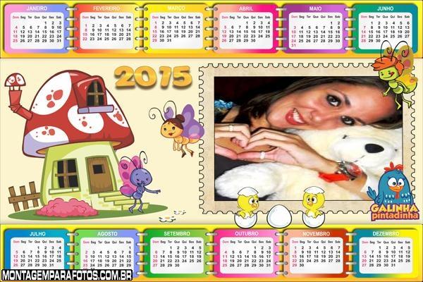 Borboletinha 2015 Calendário
