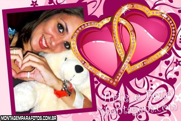 Corações Brilhantes Rosa
