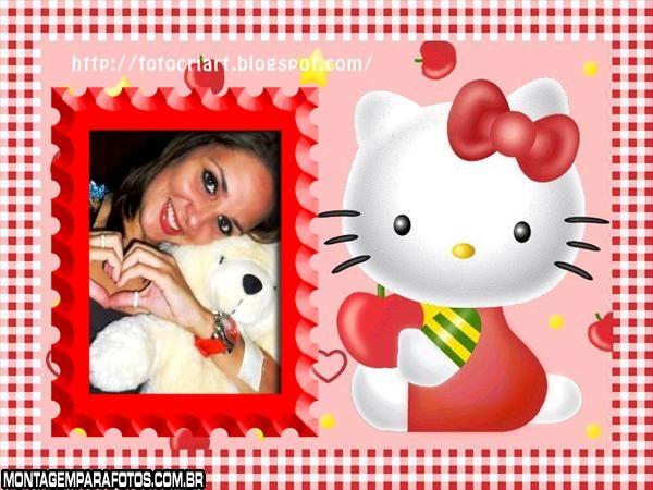 Moldura Maçã Hello Kitty