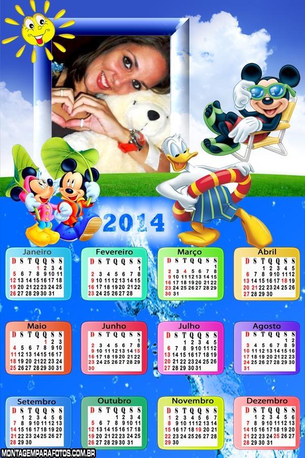 Calend�rio 2014 Mickey Disney