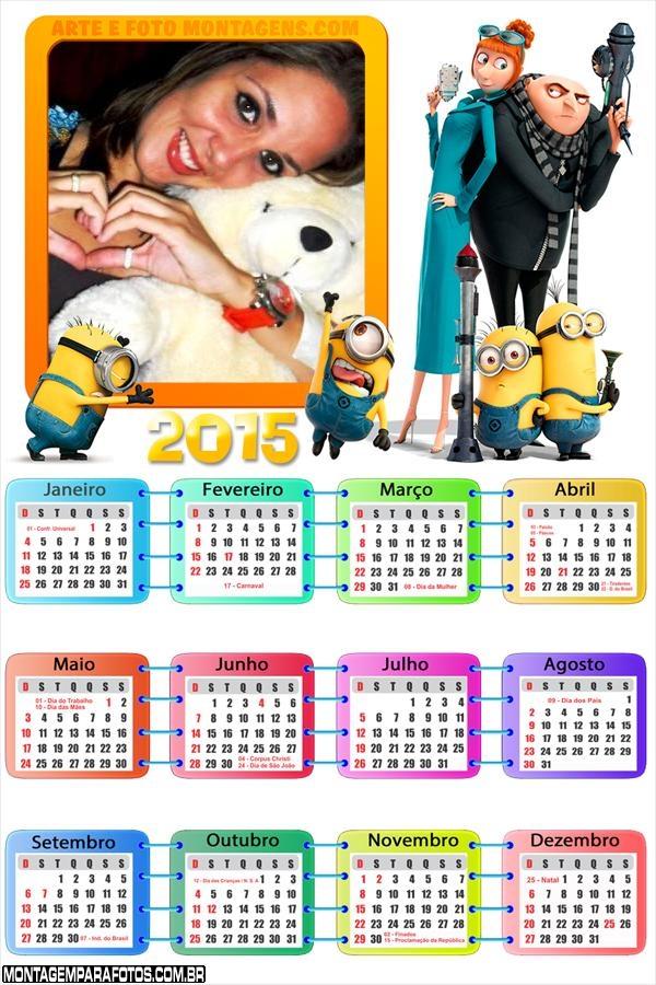Calendário 2015 Meu Malvado
