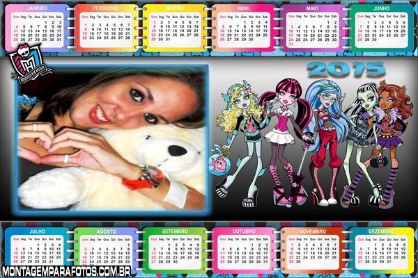 Garotas Monster Calendário 2015