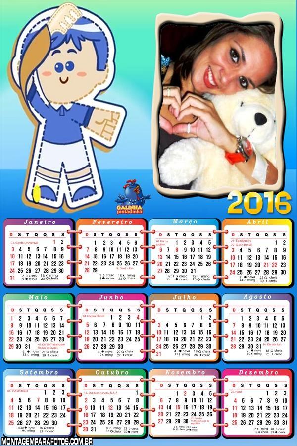 Calendário Pimpom Galinha Pintadinha 2016