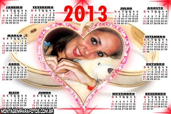 Calendário de Coração 2013