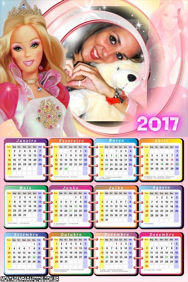 Calendário 2017 Barbie Barbie Girl