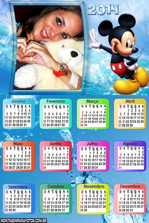 Calendário Mickey Mouse 2014