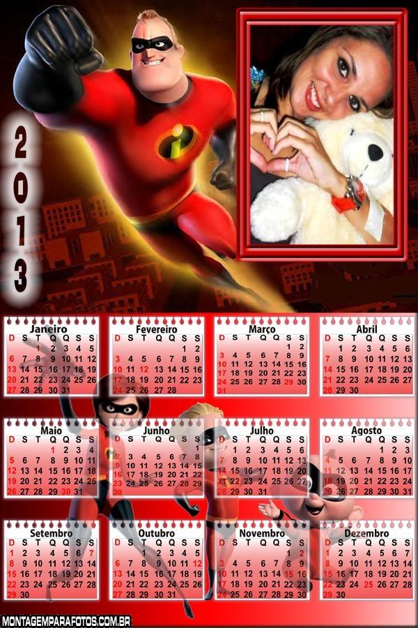 Calendário Senhor íncrivel 2013