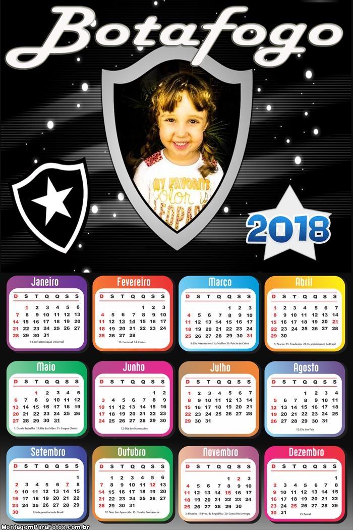 Calendário 2018 Bota Fogo