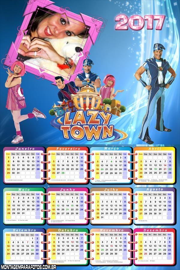 Calendário 2017 Programa Lazy Town