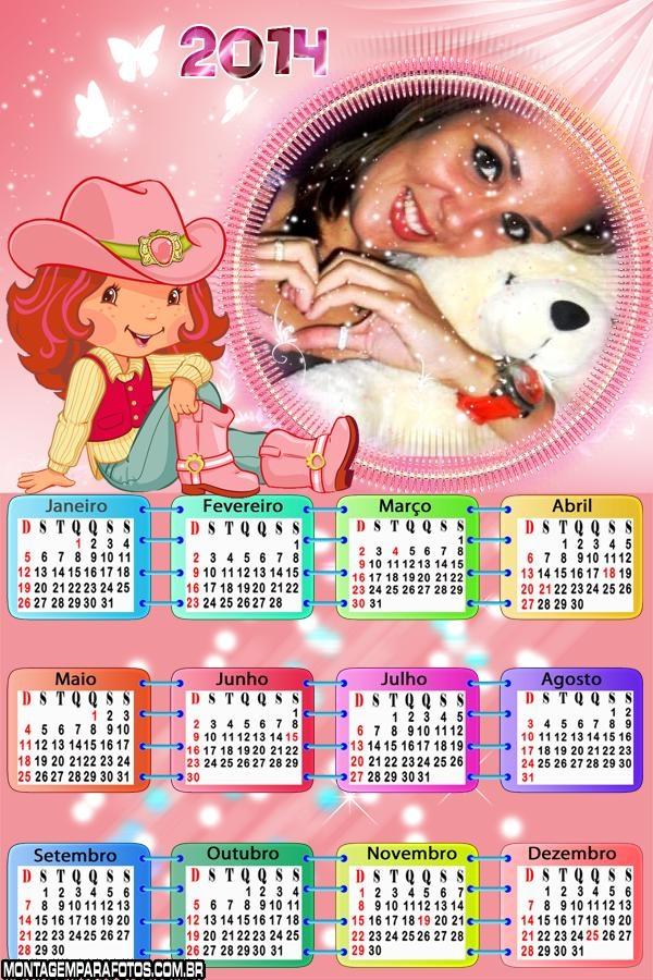 Calendário da Moranguinho 2014