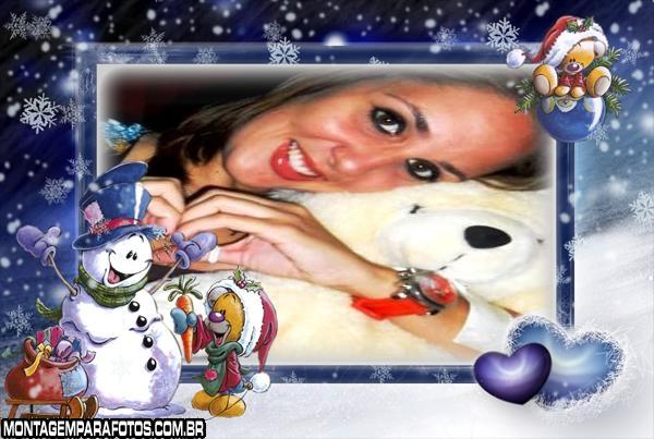 Moldura Amigo Boneco de Neve