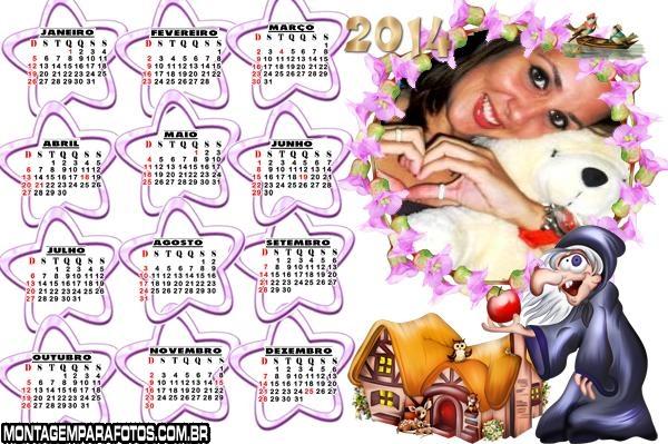 Bruxa Malvada Calendário 2014