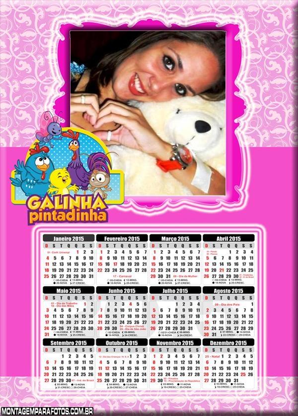 Calendário 2015 Galinha Rosa