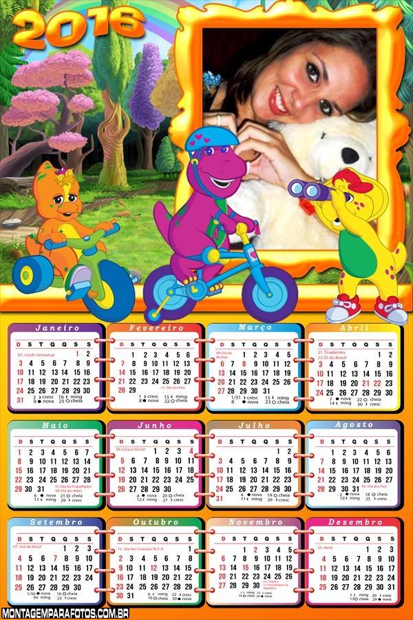 Calendário Barbie Brincando 2016