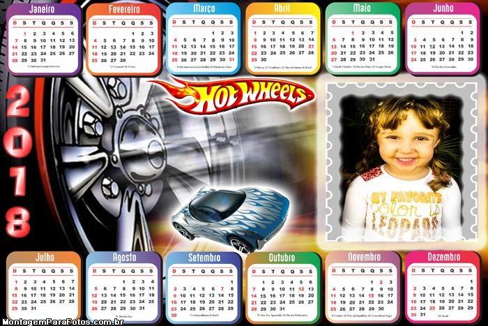 Calendário 2018 Hot Wheels