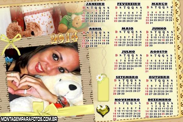 Calendário Scrapbook 2014