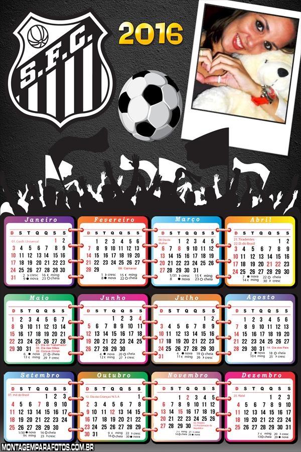 Calendário do Santos 2016 Time Futebol