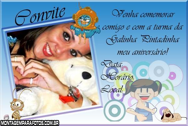 Convite Galinha Pintadinha Azul