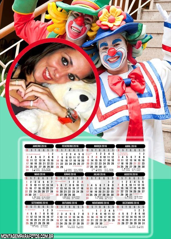 Calendário Patati Patatá Cover Personagens 2016