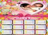 Calendário 2017 Crianças Carinhosas