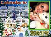 Calendário 2017 Neve Natalina Infantil