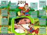 Calendário 2014 Júlio Cocoricó