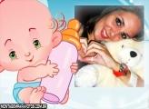 Neném com Mamadeira Moldura