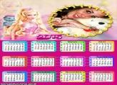 Calendário 2015 Bichinho Barbie