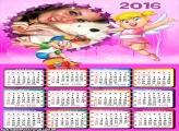 Calendário Xuxinha e Guto Desenho 2016