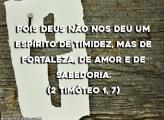 2 Timóteo 1, 7
