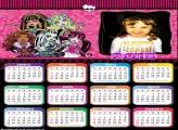 Calendário 2018 Monster High