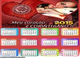 Calendário 2015 Coração Corinthiano