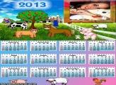 Calendário Fazendinha 2013