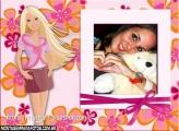 Moldura Barbie Loira Modelo