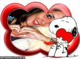 Moldura Snoopy Amor Coração