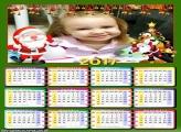 Calendário 2017 Cute Papai Noel