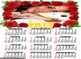 Calendário 2013 Rosa Vermelha
