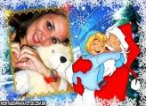 Moldura Garoto com Papai Noel
