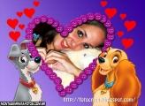 Cachorros Apaixonados Moldura