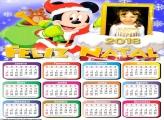 Calendário 2018 Feliz Natal Mickey Mouse