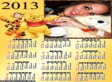 Calendário 2013 Tigrão e Pooh
