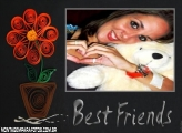 Moldura Flores para Best Friends