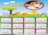Calendário Infantil Safari 2016
