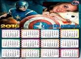 Calendário Capitão América Filme 2016